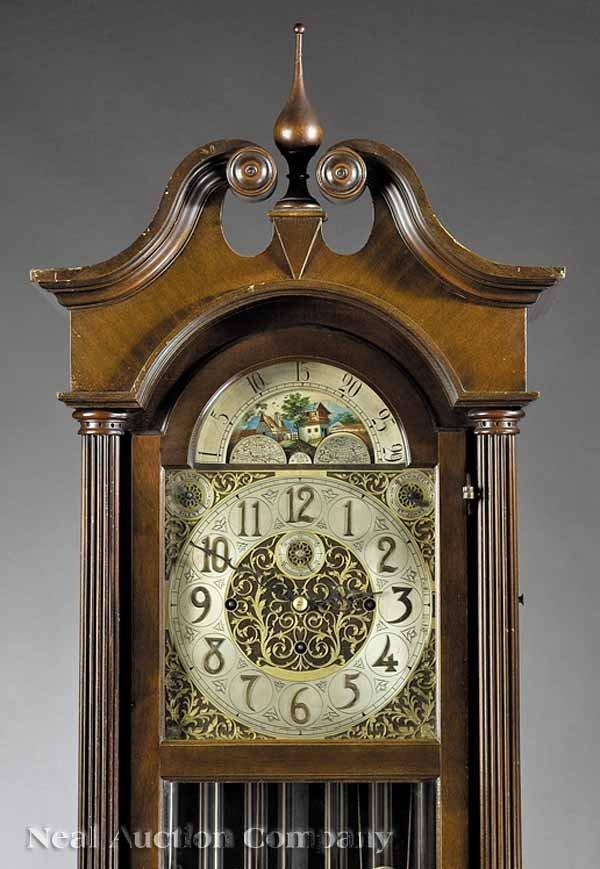 648: Mahogany Tall Case Clock, Hanson Clock Co. - 2