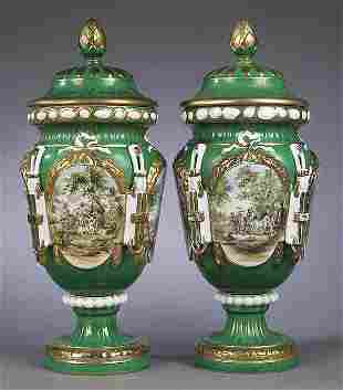 Pair of French Neo-Classical Porcela