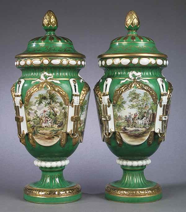 0001: Pair of French Neo-Classical Porcela