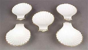 Set of Five Vieux Paris Porcelain Sh