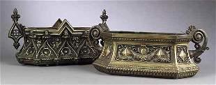 Two Victorian Patinated Bronze Jardine