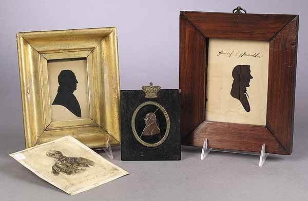 0015: Group of Antique Small Portraits, in