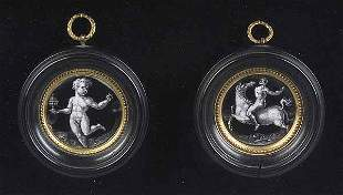 Pair of French Neo-Classical Enamel