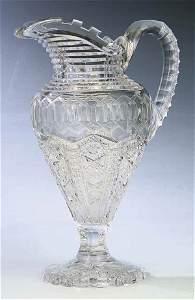 0096: American Brilliant Cut Glass Pitche