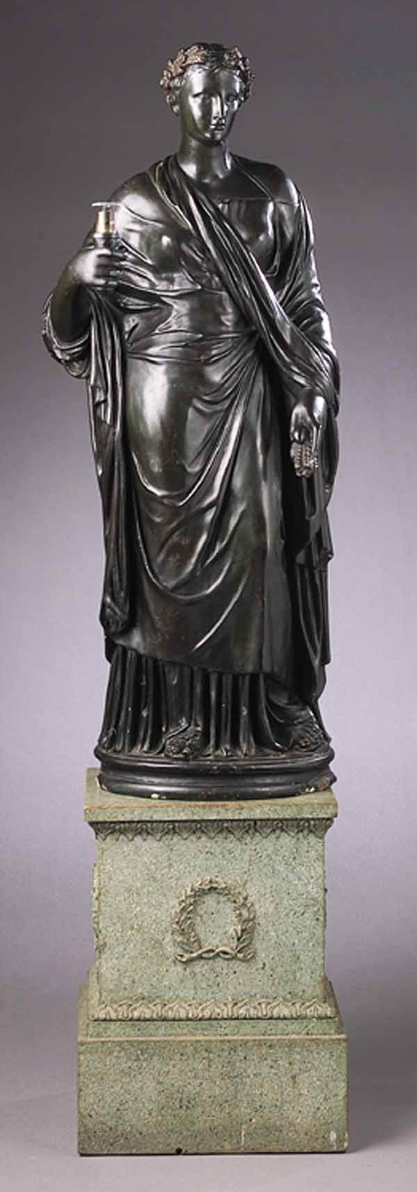 0099: Regency Bronze-Patinated Plaster Fig