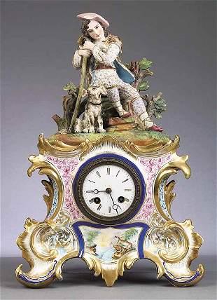 Vieux Paris Porcelain and Bisque Fig