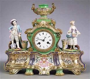 Vieux Paris Porcelain Figural Mantel