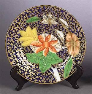 English Coalport Porcelain Plate of