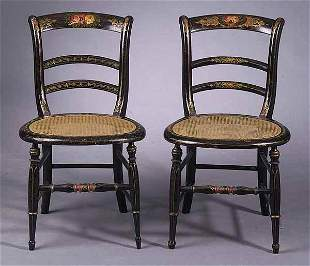 Pair of American Faux Bois and Paint