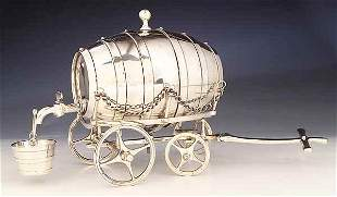 Silverplate Barrel-Form Whiskey Deca