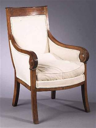 A Charles X Fruitwood Bergere