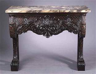Georgian-Style Carved Mahogany Conso