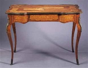 Fine Louis XV-Style Inlaid Kingwood