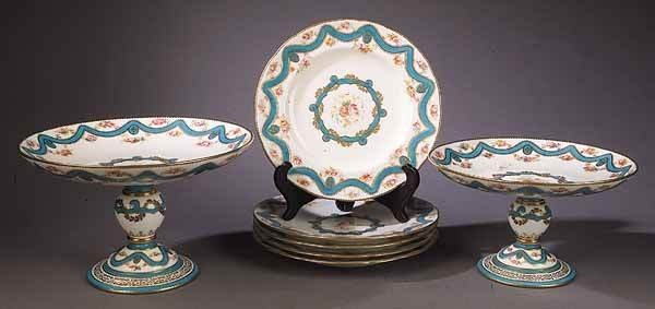 0924: French Porcelain Dessert Set
