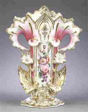 Vieux Paris and Gilt Porcelain Flare