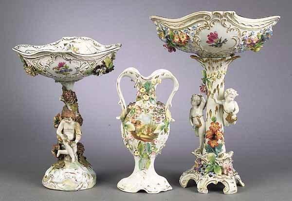 0926: Dresden Porcelain Centerpiece