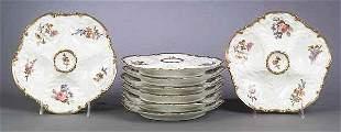 Set of Eight Limoges Porcelain Oyste