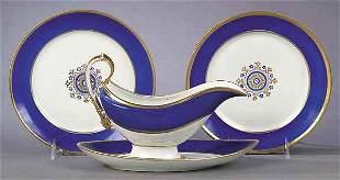 Large Paris Porcelain Saucier and Un