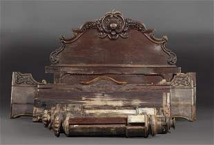 Rococo Carved Mahogany Poster Bed