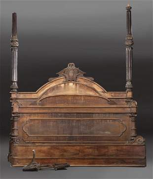 Rosewood Half-Tester Bed