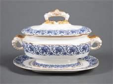 Royal Worcester Porcelain Covered Sauce Tureen