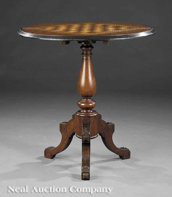 3: Rosewood Inlaid, Ebonized Occasional Table
