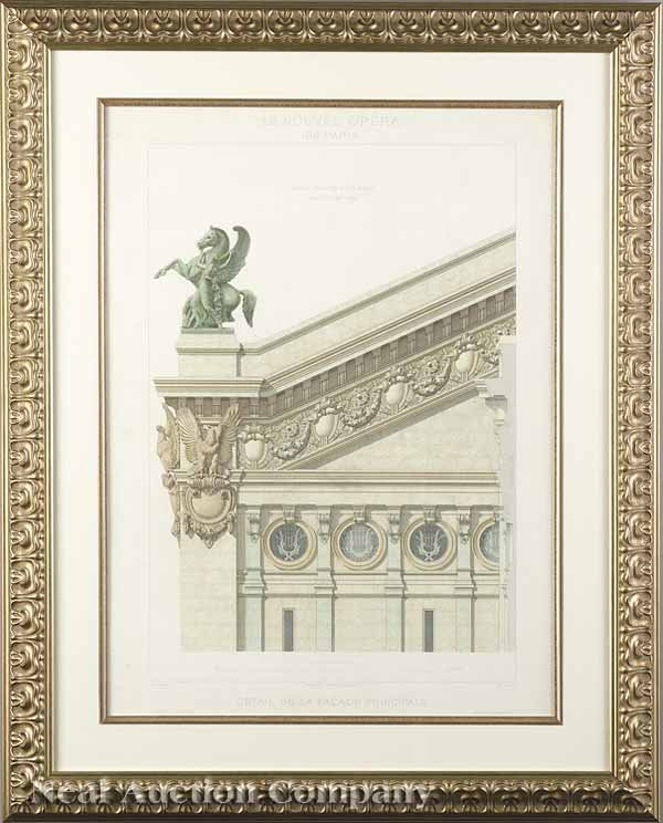 13: Hand-Colored Engravings of the Paris Opera House