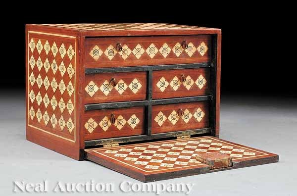 23: Inlaid Walnut Box in the Hispano-Moresque Style