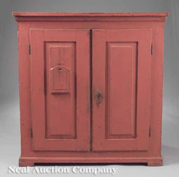 612: An Antique English Painted Pine Jelly Cupboard