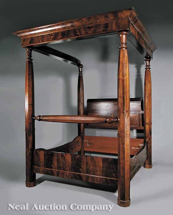 650: An American Classical Mahogany Tester Bed