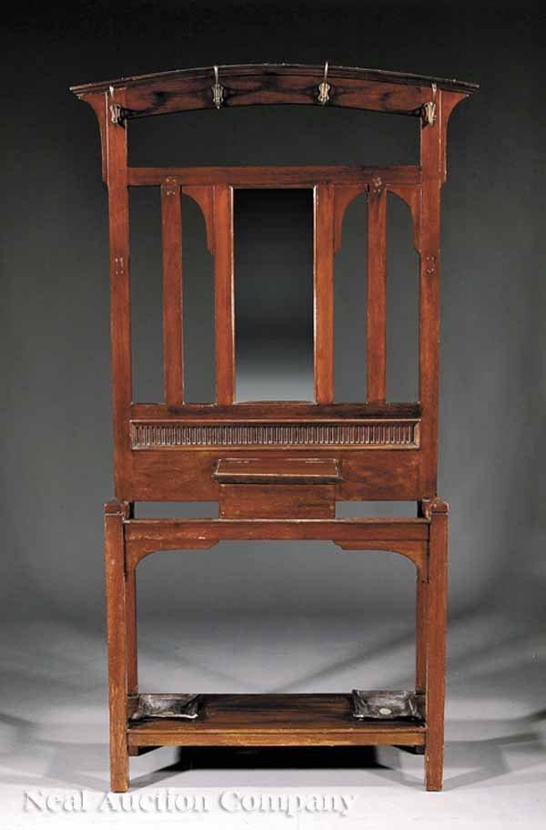 960: An English Arts and Crafts Mahogany Hallstand