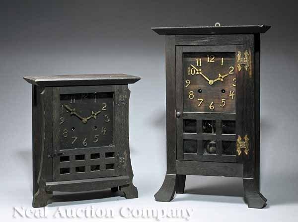 1021: Two New Haven Clock Co. Shelf Clocks