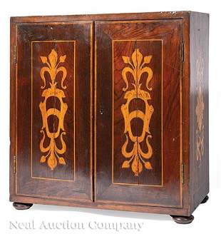 Italian Marquetry Collector's Cabinet