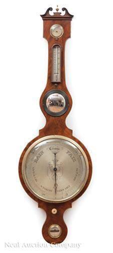 "Mahogany Barometer, ""J. TAGLIABUE"""