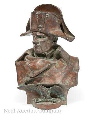 French Patinated Bronze Bust of Napoleon