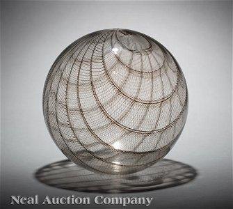 """Lino Tagliapietra Glass """"Filligrana Sphere"""""""