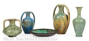 French Art Nouveau Pierrefonds Ceramic Pieces