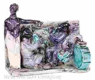 Italian Art Deco Glazed Pottery Grouping