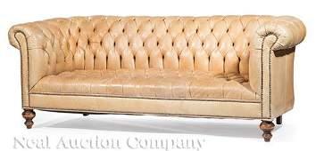 Ralph Lauren Leather Chesterfield Sofa