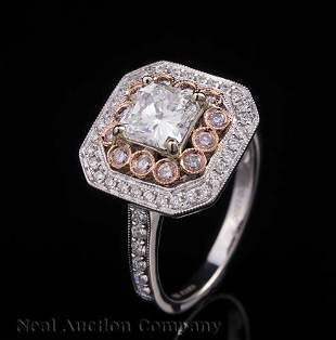 18 kt White and Rose Gold and Diamond
