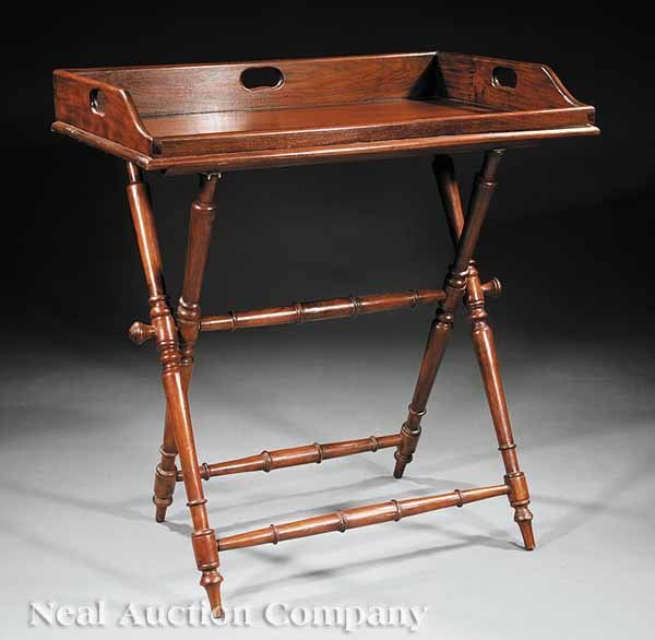 0002: William IV Mahogany Butler's Tray and Stand
