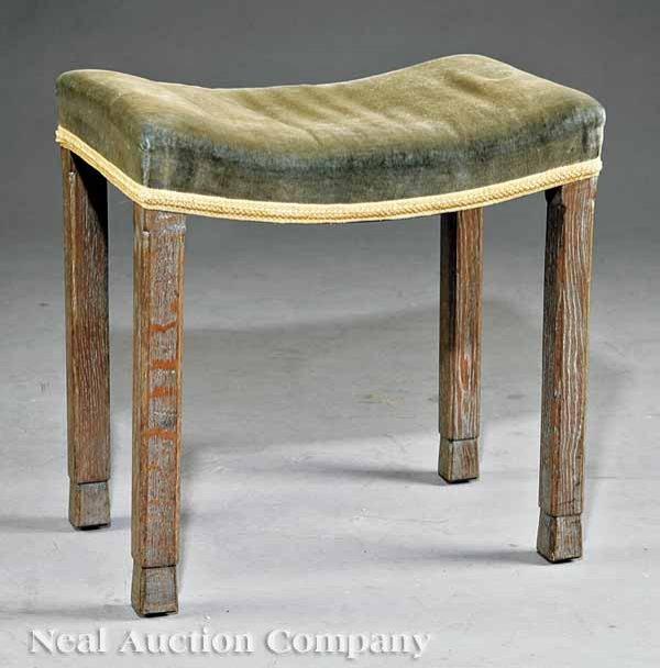 0006: B. North & Sons Limed Oak Coronation Bench