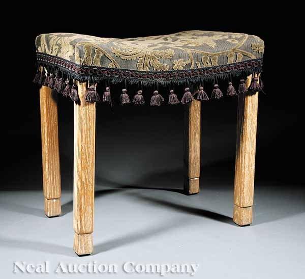 0007: George VI Limed Oak Coronation Bench