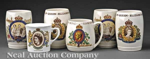0010: Group English Coronation Commemorative Ceramics