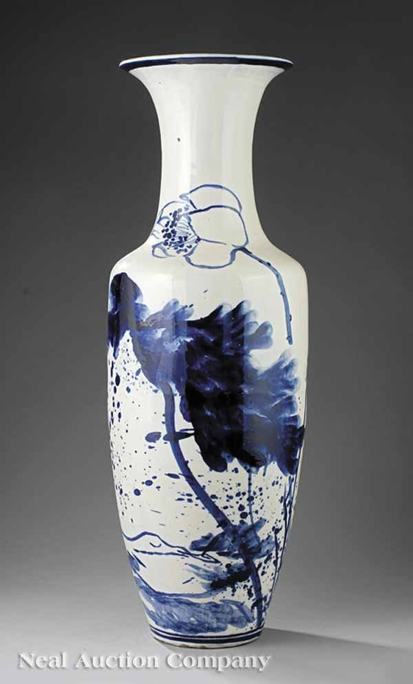 0011: Large Chinese Blue and White Vase, Wan Ding