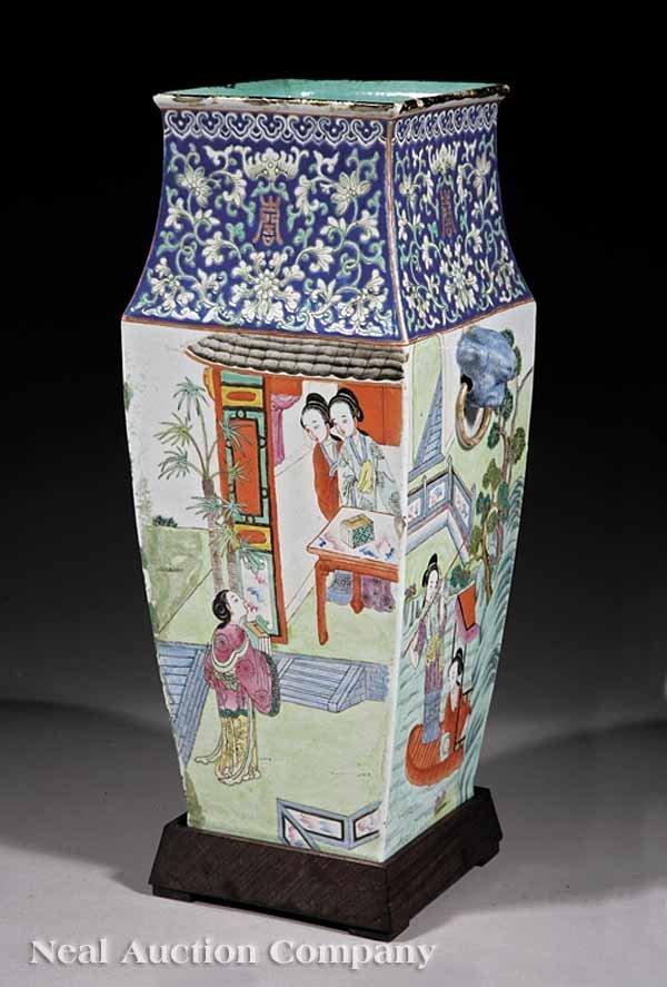 0012: Chinese Famille Rose Porcelain Vase, Tongzhi
