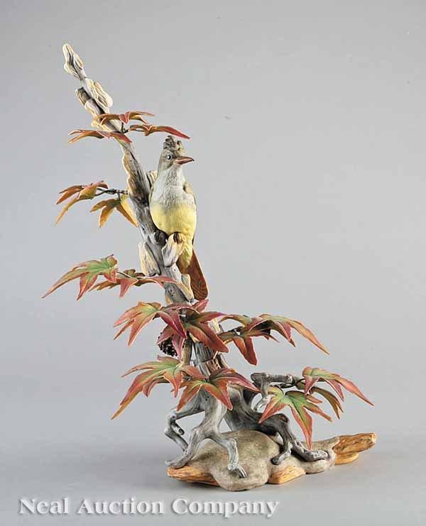0019: Boehm Porcelain Crested Flycatcher Figure