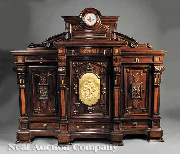 0102: Herter Brothers Rosewood Parlor Cabinet