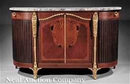 0303: Gilt Bronze-Mounted Mahogany Marquetry Buffet