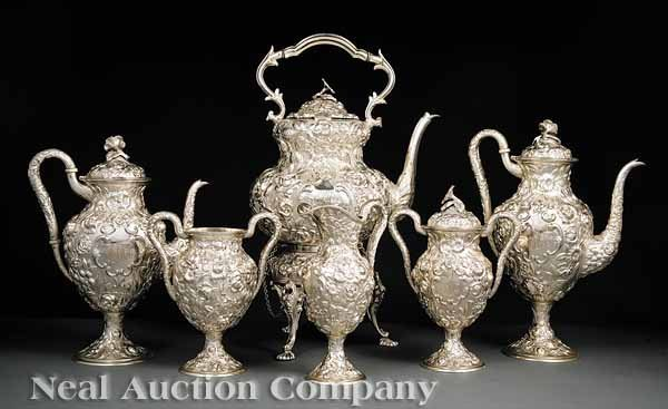 0660: Schofield Sterling Silver Coffee and Tea Service